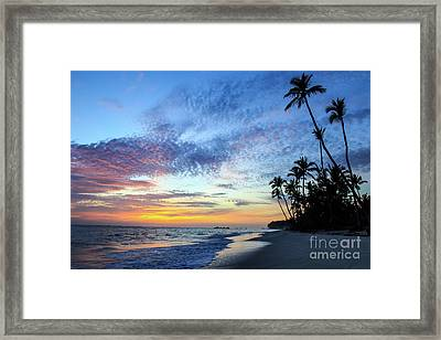 Tropical Island Sunrise Framed Print