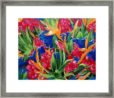 Tropical Framed Print by Jamie Frier