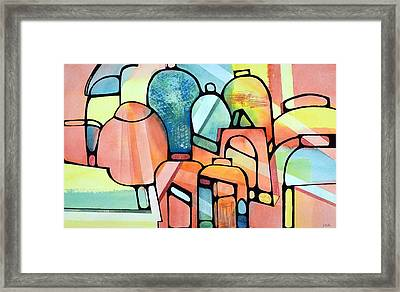 Tropical Jars Framed Print