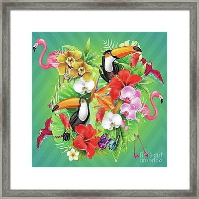 Tropical  Karnaval Framed Print