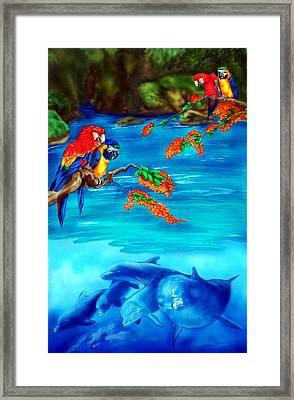 Tropical Lagoon Framed Print