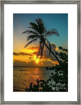 Tropical Lagoon Sunrise Framed Print