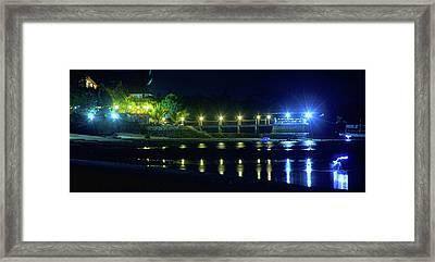 Tropical Lights Framed Print