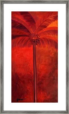 Tropical Mango Palms Framed Print by Helen Gerro