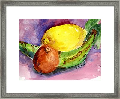 Tropical Framed Print by Marilyn Barton
