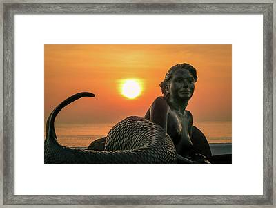 Tropical Mermaid Framed Print