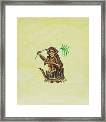 Tropical Monkey 3 Framed Print by John Keaton