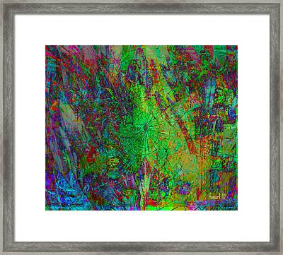 Tropical Mood Expression Framed Print by Fania Simon