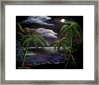 Tropical Moonlight Framed Print