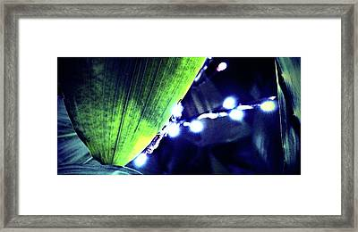 Framed Print featuring the digital art Tropical Night by Mindy Newman