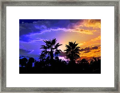 Framed Print featuring the photograph Tropical Nightfall by Francesa Miller