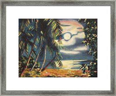 Tropical Nights Framed Print by Suzanne  Marie Leclair