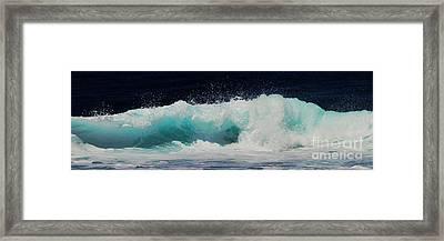 Tropical Ocean Surf Framed Print by Scott Cameron