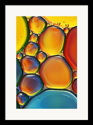 Orange Color Framed Prints