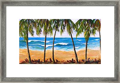 Framed Print featuring the painting Tropical Palms 2 by Phyllis Howard