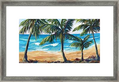 Framed Print featuring the painting Tropical Palms I by Phyllis Howard