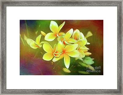Framed Print featuring the photograph Tropical Plumeria Art By Kaye Menner by Kaye Menner