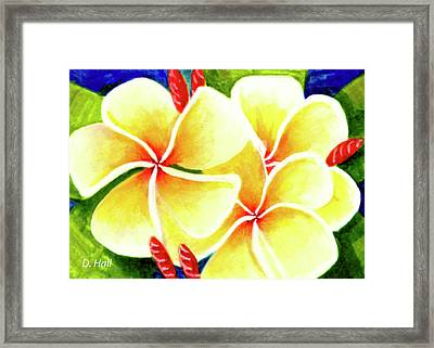 Tropical Plumeria Flowers #226 Framed Print by Donald k Hall