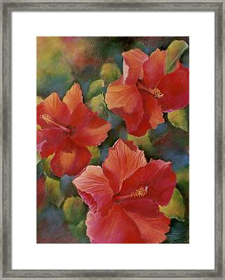 Framed Print featuring the painting Tropical Punch by Ann Peck
