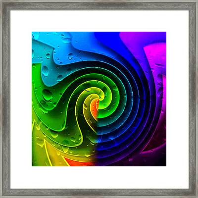 Framed Print featuring the photograph Tropical Rain by Kathy Kelly