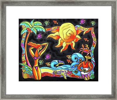 Tropical Resort  Framed Print by Leon Zernitsky