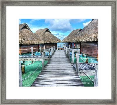 Tropical Resort Paradise Seascape Florida Keys 01 Framed Print