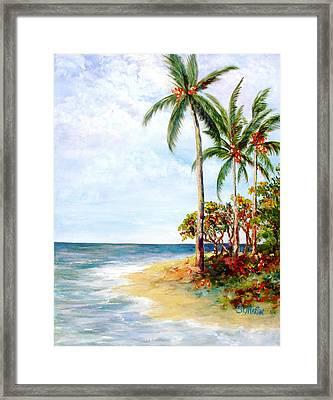 Tropical Retreat And Sandy Feet Framed Print by Annie St Martin