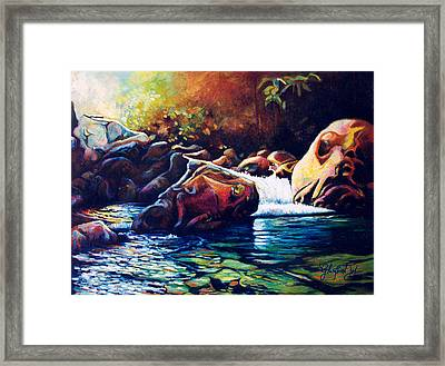 Tropical River Framed Print