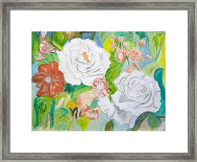 Tropical Rose Framed Print by Cathy Jourdan