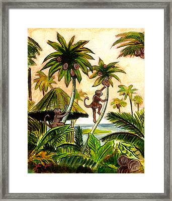 Tropical Scene Framed Print by John Keaton