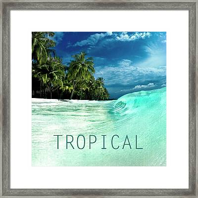 Tropical. Framed Print