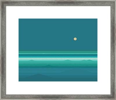 Framed Print featuring the digital art Tropical Seas by Val Arie