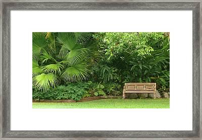 Tropical Seat Framed Print