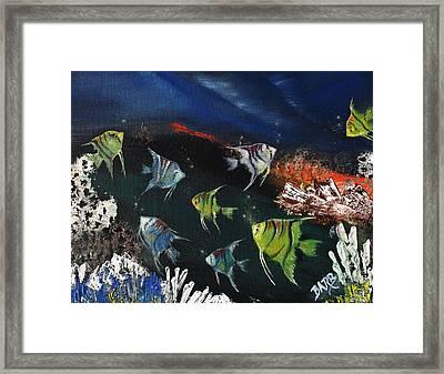 Tropical Seaworld Framed Print by Barbara Teller