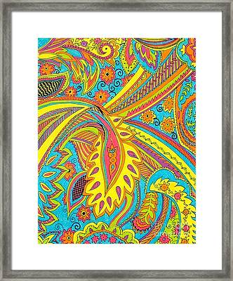 Tropical Sizzle Framed Print by Ramneek Narang