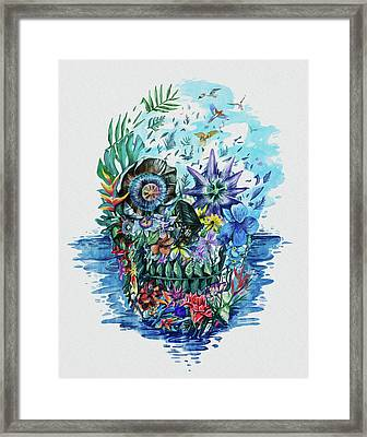 Tropical Skull 2 Framed Print