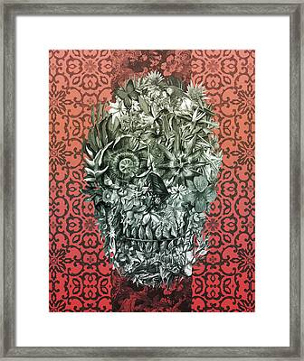Tropical Skull 4 Framed Print