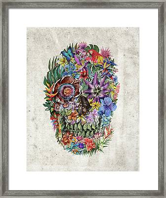 Tropical Skull Framed Print