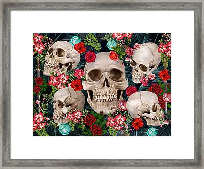 Tropical Skull  Framed Print by Mark Ashkenazi