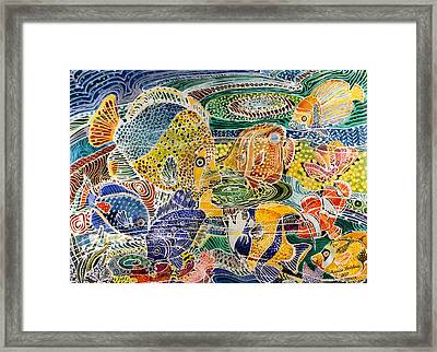 Tropical Splendor Batik Framed Print by Marcia Baldwin