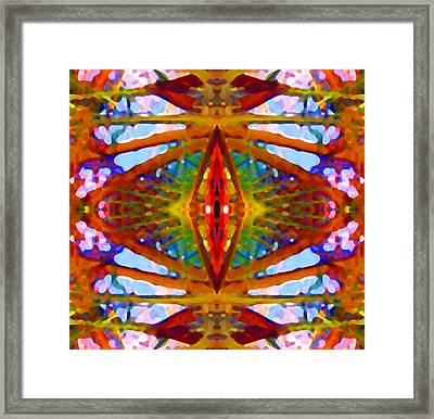 Tropical Stained Glass Framed Print by Amy Vangsgard