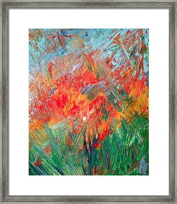 Tropical Stained Glass Framed Print