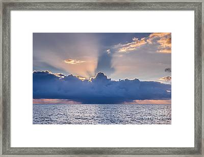 Tropical Storm At Key West Framed Print by Elena Elisseeva