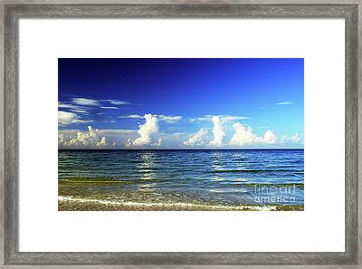 Framed Print featuring the photograph Tropical Storm Brewing by Gary Wonning