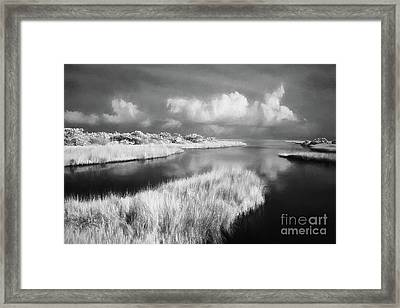 Tropical Storm Over Ocracoke Outer Banks Ap Framed Print by Dan Carmichael