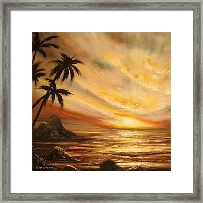 Tropical Sunset 65 Framed Print