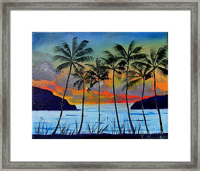 Tropical Sunset Framed Print by Inna Montano