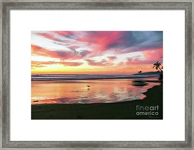 Tropical Sunset Island Bliss Seascape C8 Framed Print
