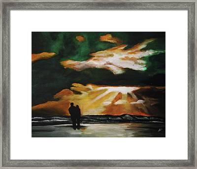 Tropical Sunset Framed Print by Kim Selig