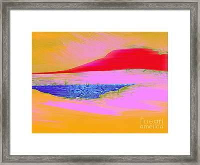 Tropical Sunset Framed Print by Mimo Krouzian